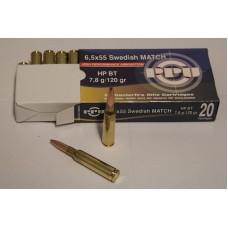 PPU 6,5x55 Swedish MATCH HPBT 7,8g/120gr.
