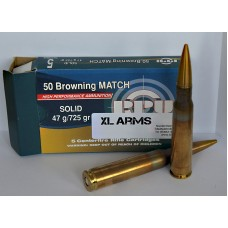 PPU .50 Browning MATCH SOLID 47g/725gr.