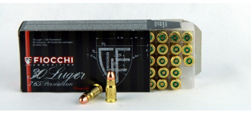 FIOCCHI  .30 Luger - 7,65 Parabellum 93 gr.  FMJ