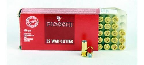 FIOCCHI  .32 WAD CUTTER  100 gr.   LWC