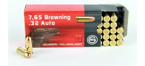 Geco  7,65 Browning  .32 Auto FMJ  4,75 g/73 gr.