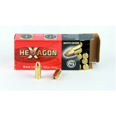 Geco 9 x 19   MATCH GRADE  HEXAGON 8,0 g/124 gr.