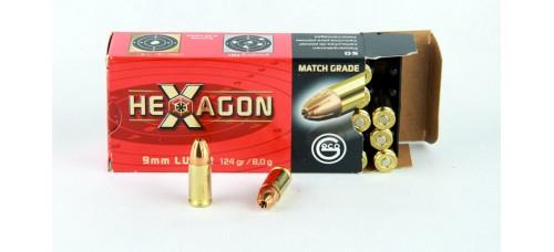 Geco 9 x 19   MATCH GRADE  HEXAGON 8,0 g/124 gr.