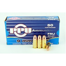 PPU  9 X 19  FMJ  8,0 g/124 gr.