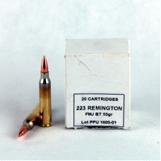 PPU    .223   Remington   FMJ  BT  55 gr.