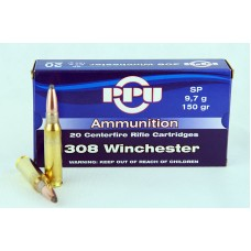 PPU  .308  Winchester  SP   9,7 g/150 gr.