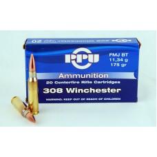 PPU .308 Winchester  FMJ BT  11,34 g/ 175 gr.