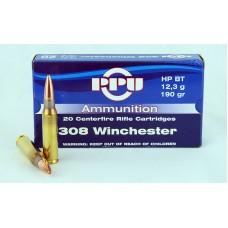 PPU  .308  Winchester  HP  BT  12,3 g/190 gr.