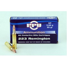 PPU  .223 Remington   SP  3,56 g/55 gr.