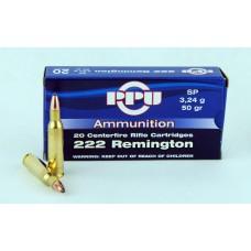 PPU .222 Remington SP  3,24 g/50 gr.