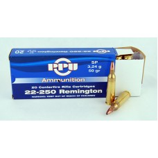 PPU  .22 - 250  Remington  SP  3,24 g/50 gr.