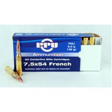 PPU  7,5 X 54  French  FMJ  9,0 g/139 gr.