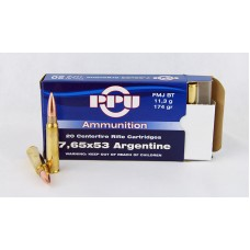 PPU  7,65 X 53  Argentine  FMJ  BT  11,3 g/174 gr.