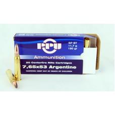 PPU  7,65 X 53  Argentine  SP  BT  11,7 g/180 gr.